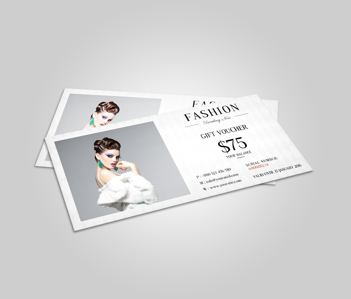 new spring fashion voucher template
