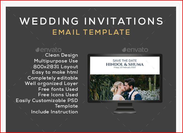 new wedding email invitation set example