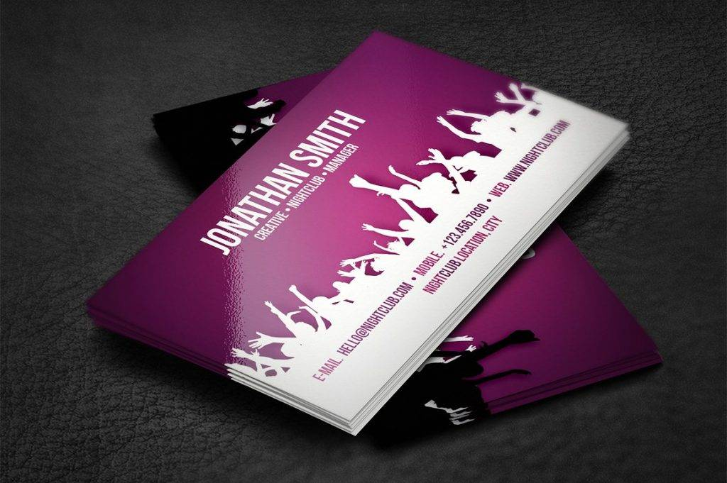 nightclub dj business card design