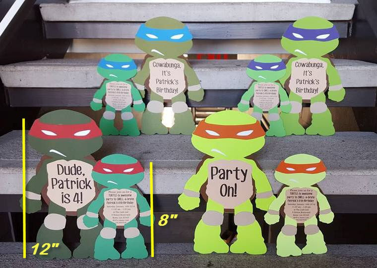 ninja turtles invitation example 2