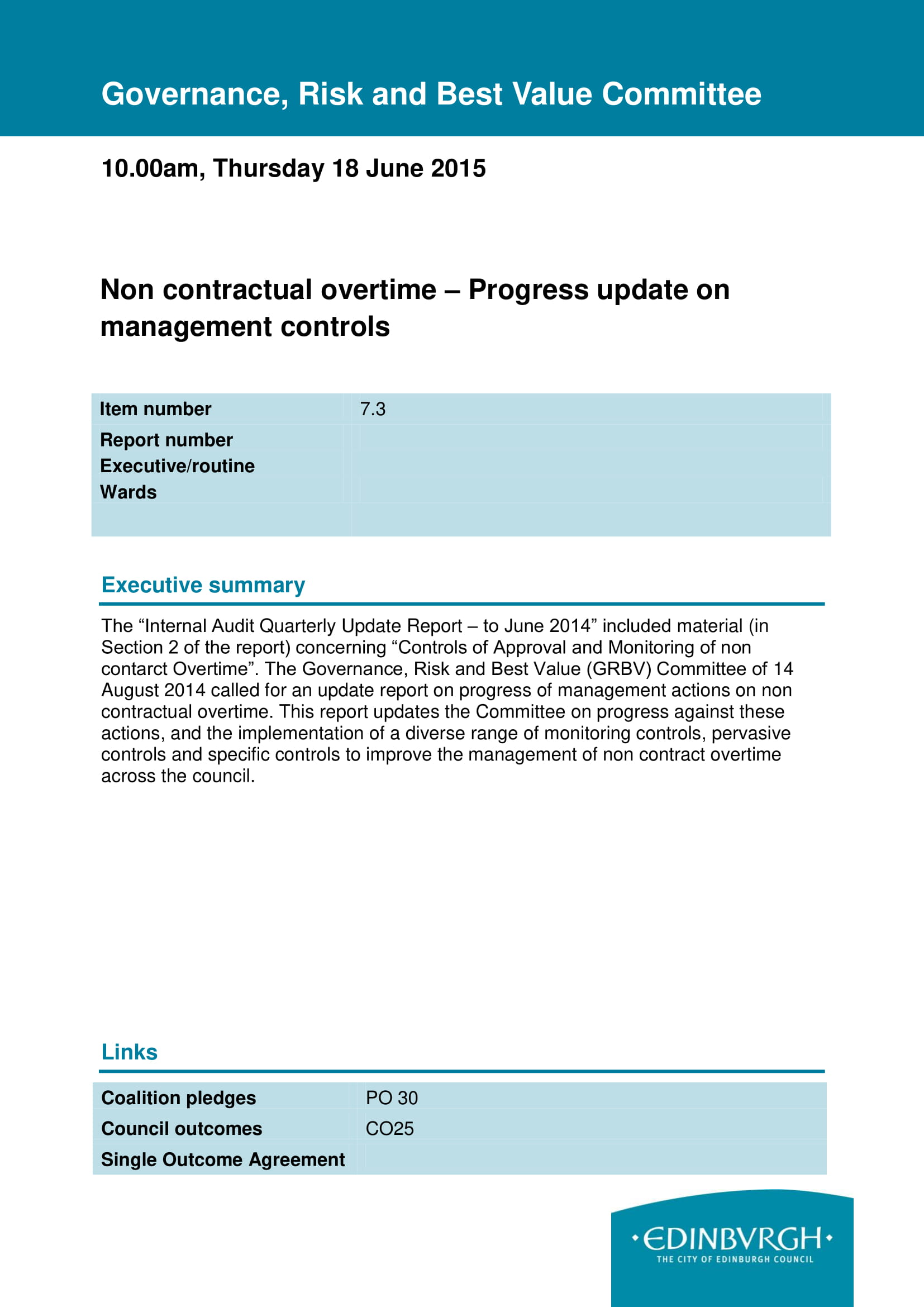 non contractual work overtime report example