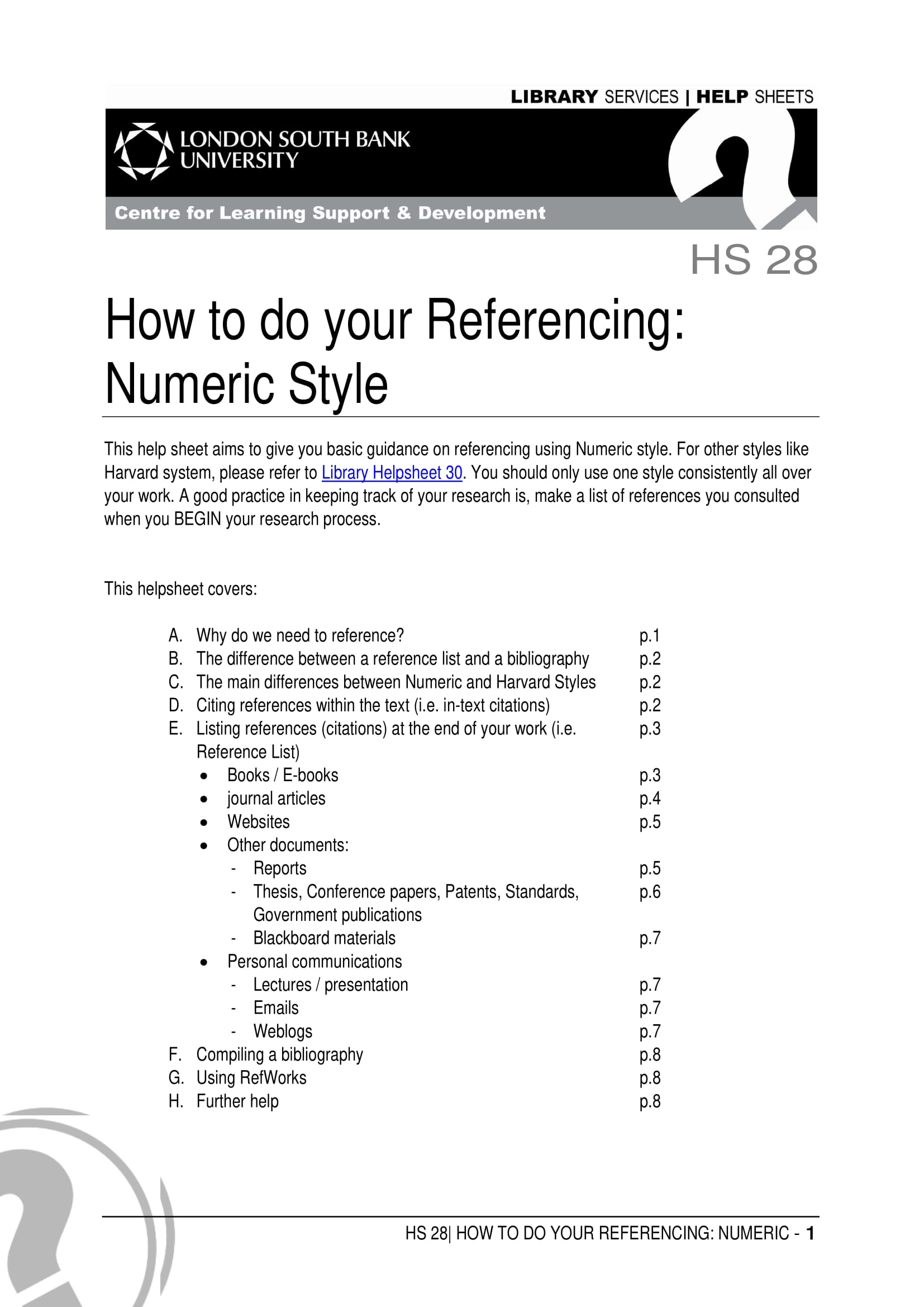 numeric style referencing example