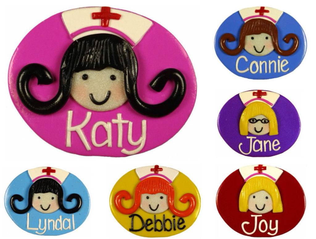 nurse name badge design