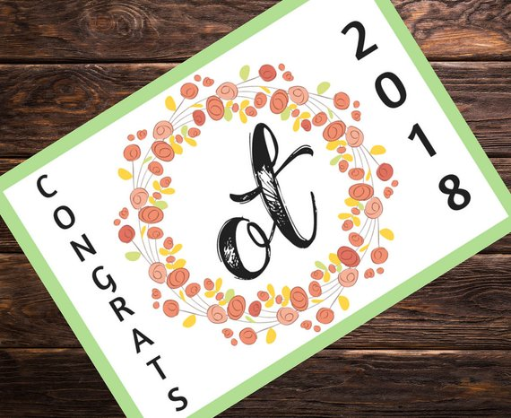 occupational therapy graduation postcard example