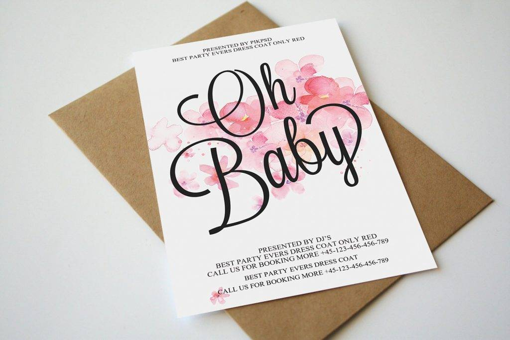 oh baby announcement design example