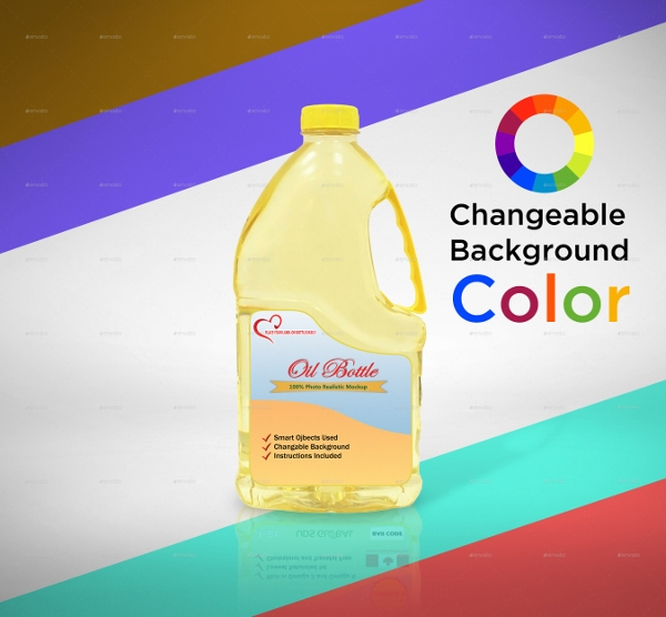 oil bottle label mock up example