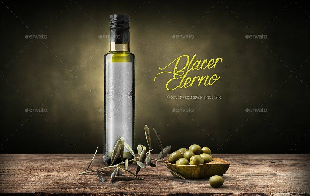 olive oil vinegar bottle label example