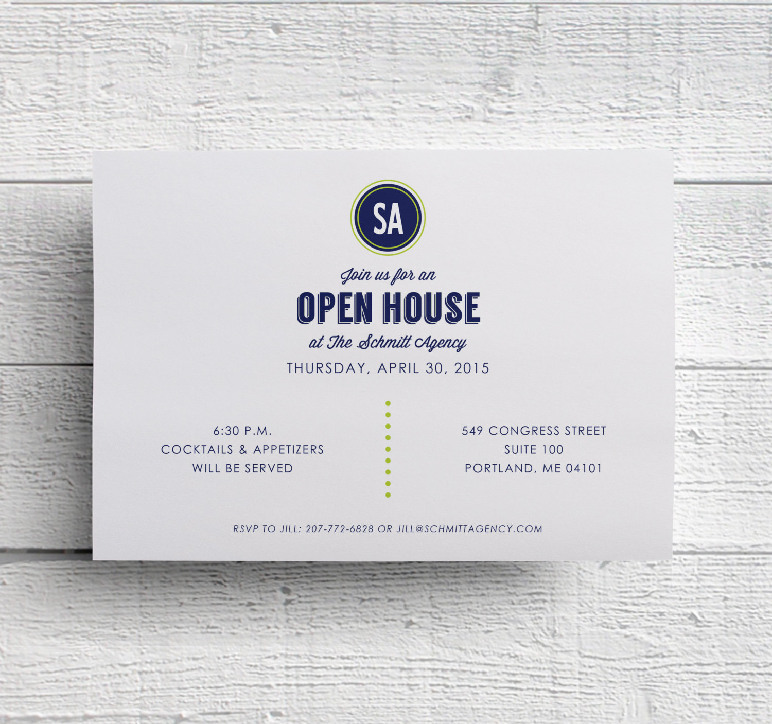 open house business invitation example