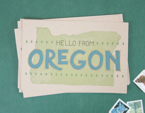 oregon travel postcard example