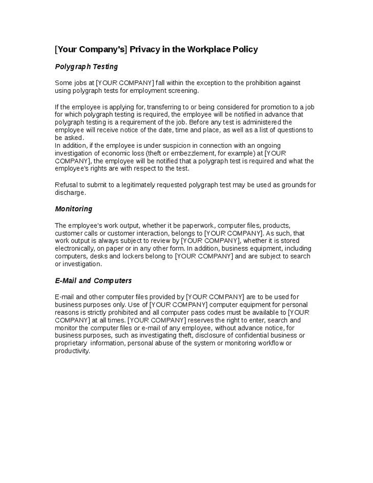 7+ Organizational Policy Examples - PDF