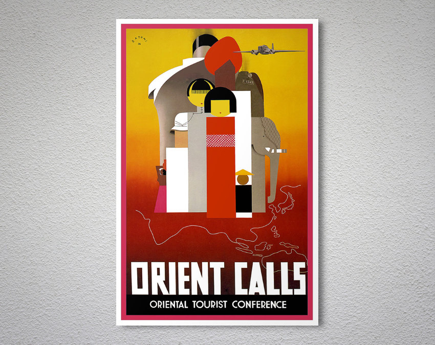 orient tourist conference poster example
