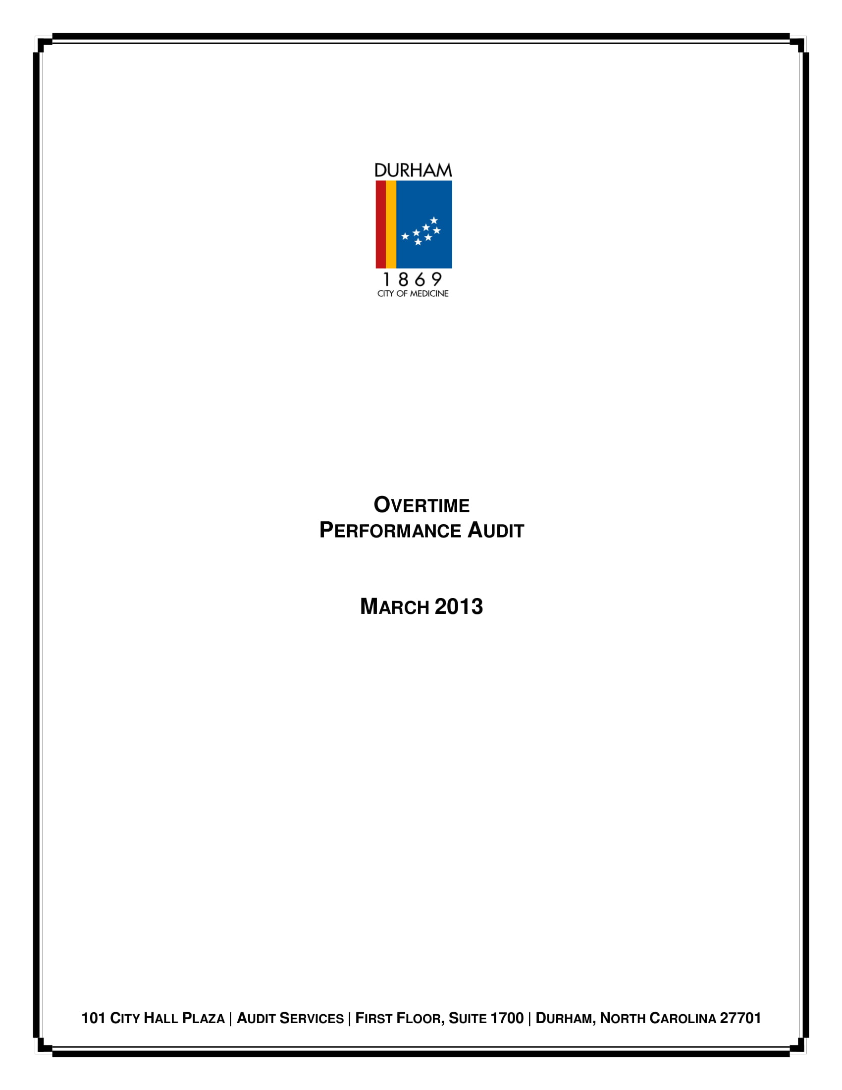 overtime performance audit report example