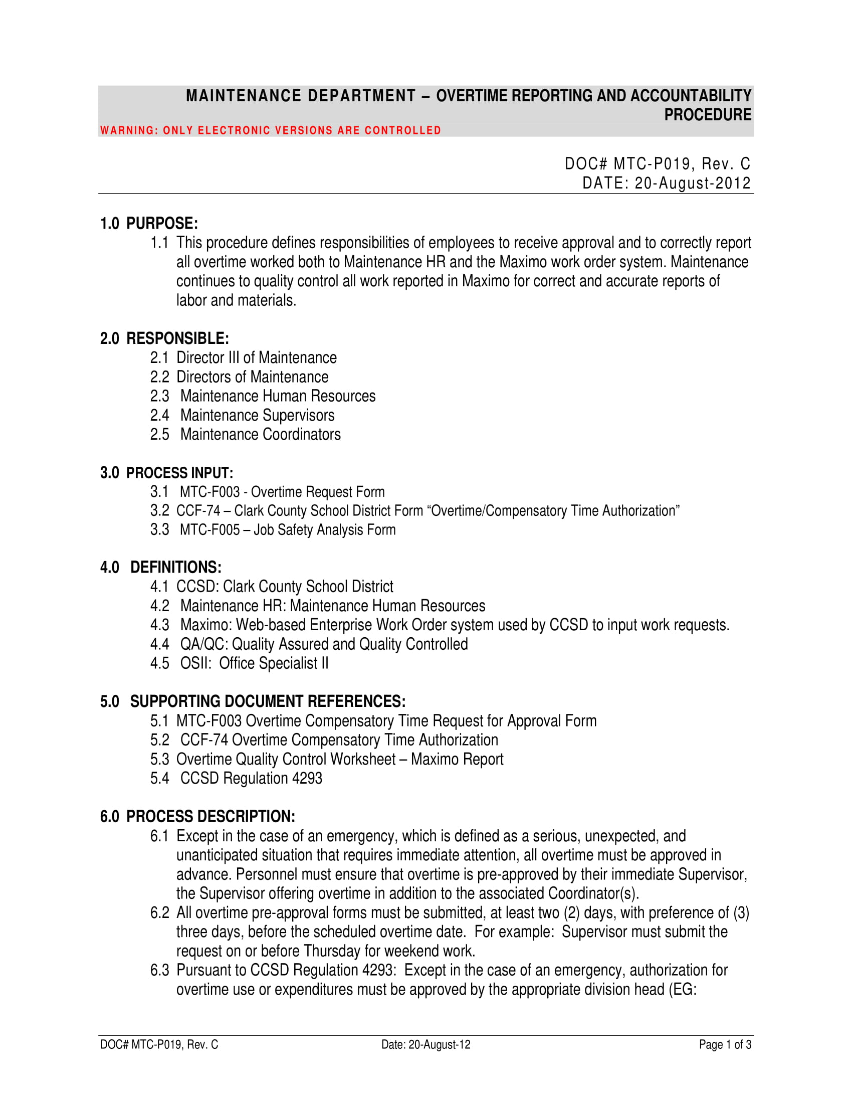 Overtime Request Form | 9 Work Overtime Report Examples Pdf