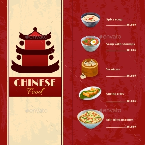pagoda food menu example