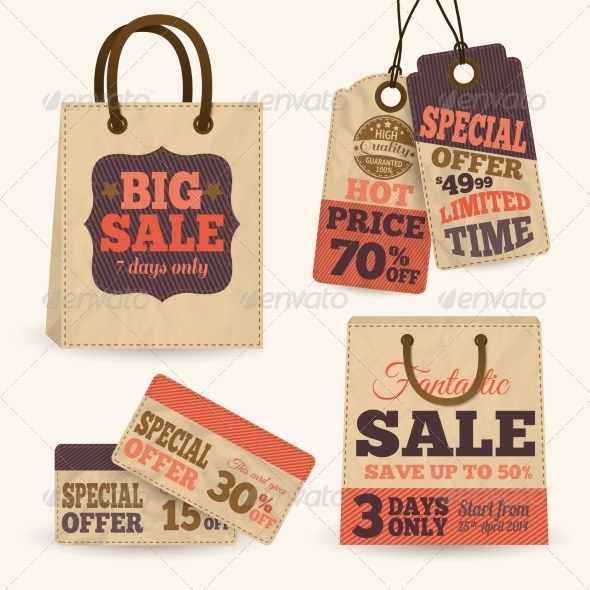 paper sale price tag examples