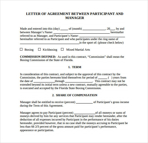 12+ Simple Agreement Letter Examples   PDF, Word | Examples