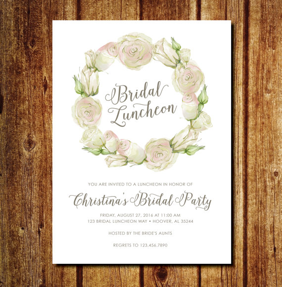 10+ Bridal Luncheon Invitation Designs And Examples
