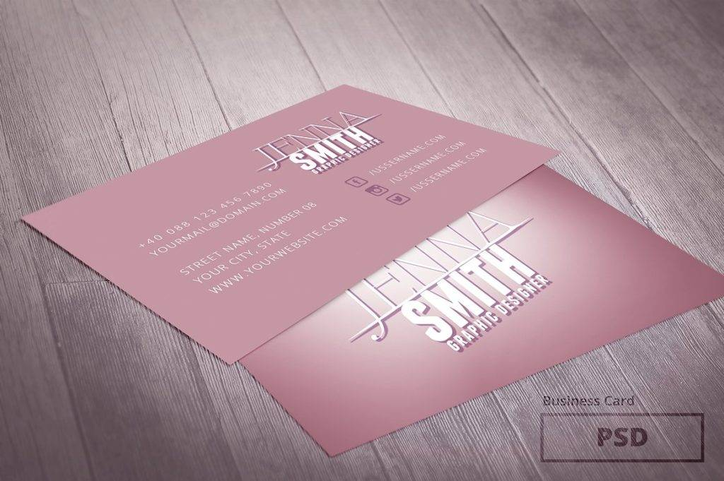pastel graphic designer business card example
