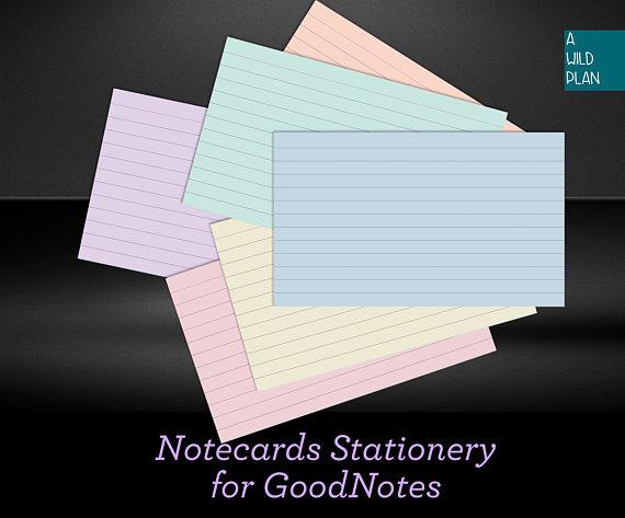 pastel index card example