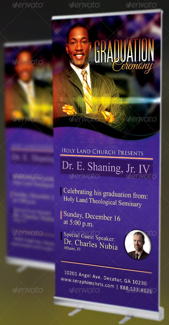 pastors graduation ceremony banner template example