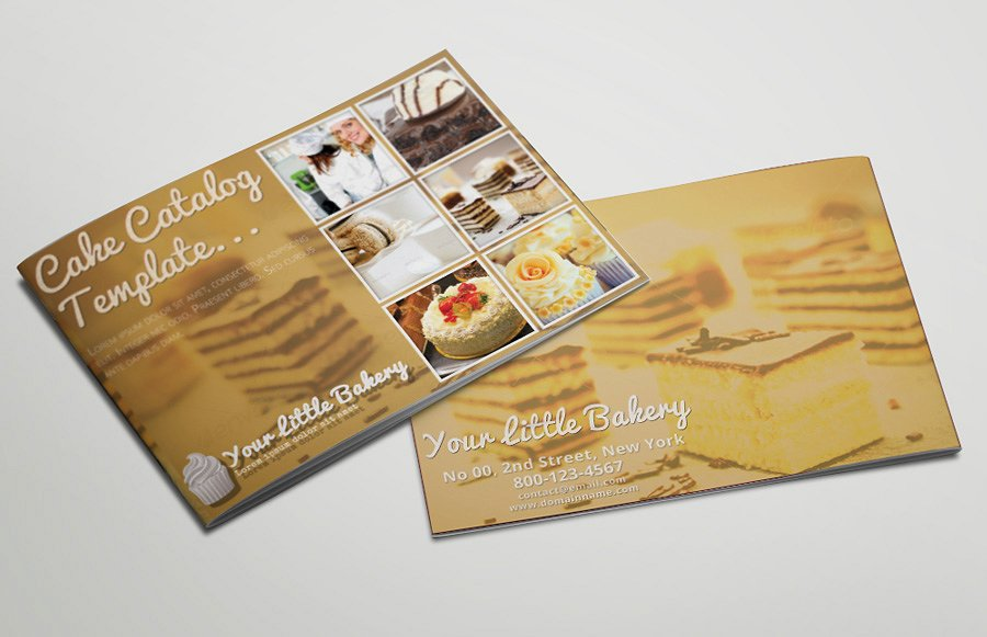 pastry catering catalog example