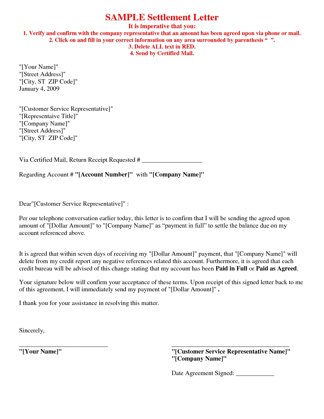 Simple Agreement Letter Examples  Pdf