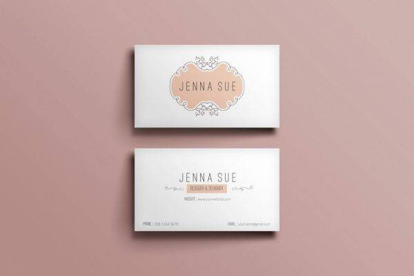 peachy frame business card example