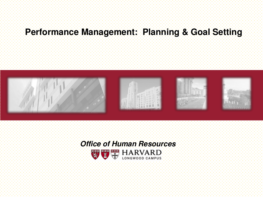 performance management planning goal setting example