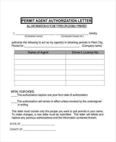 permit agent authorization example