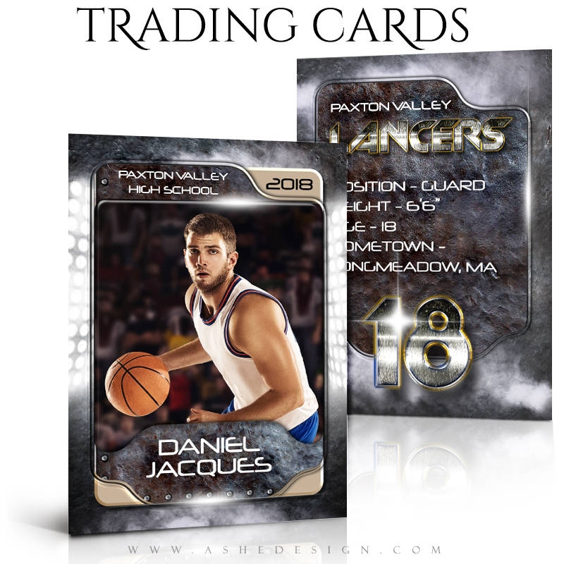 personalized basketball trading card example