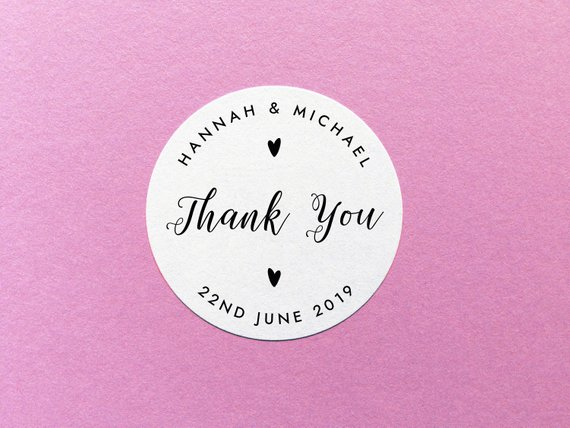 personalized thank you sticker example