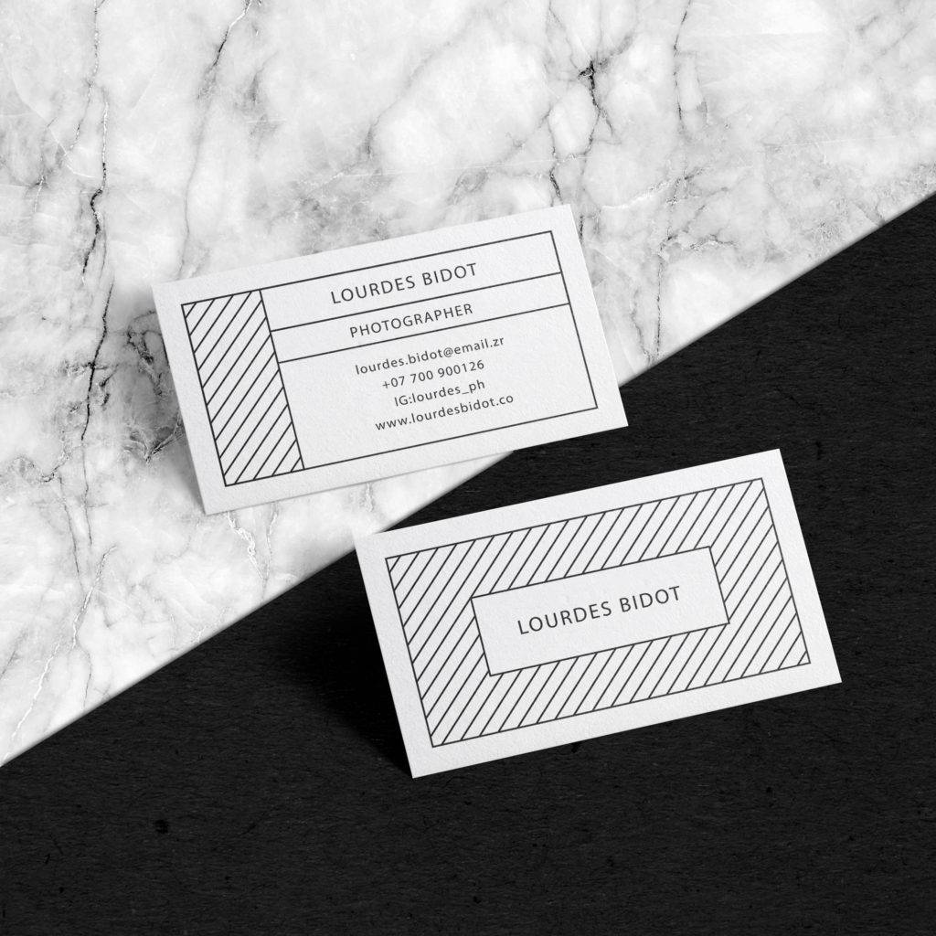photographer minimal business card template example