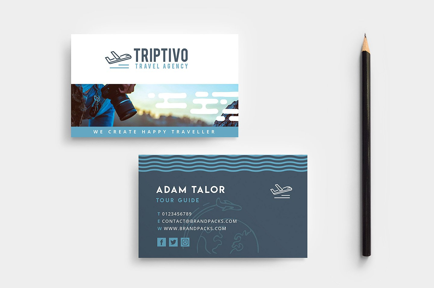 photographer travel agency card example