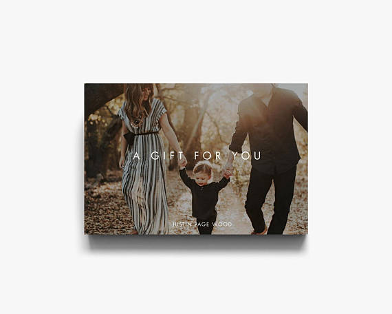 photography bundle bridal gift card example