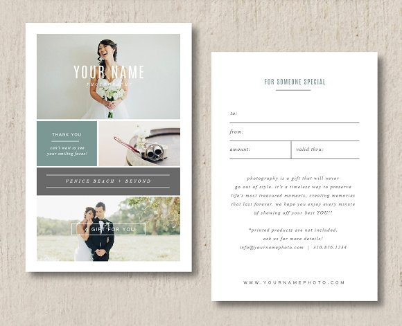 photography gift card template example