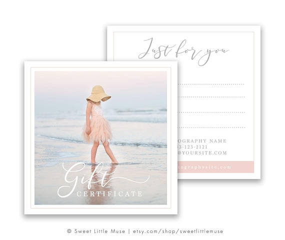 photography package bridal gift card example