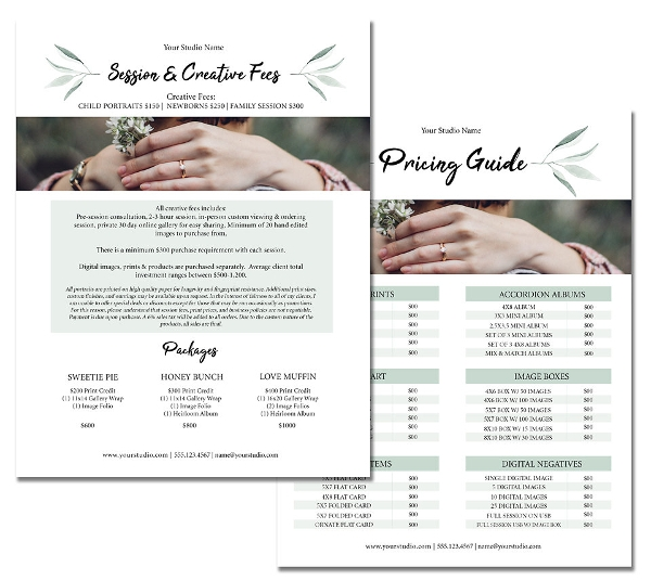photography pricing template1