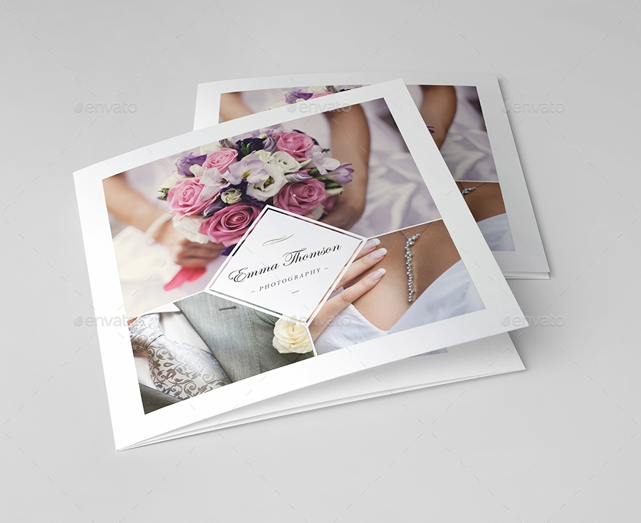photography square trifold brochure example