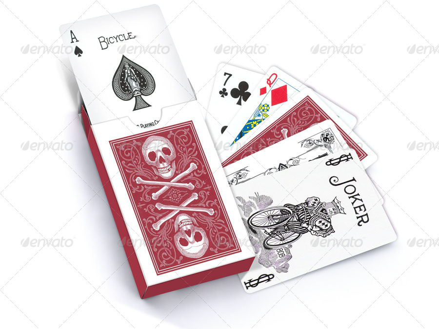 photorealistic playing card mock up