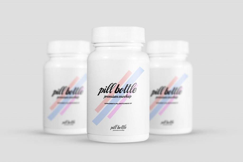 pill bottle mockup example