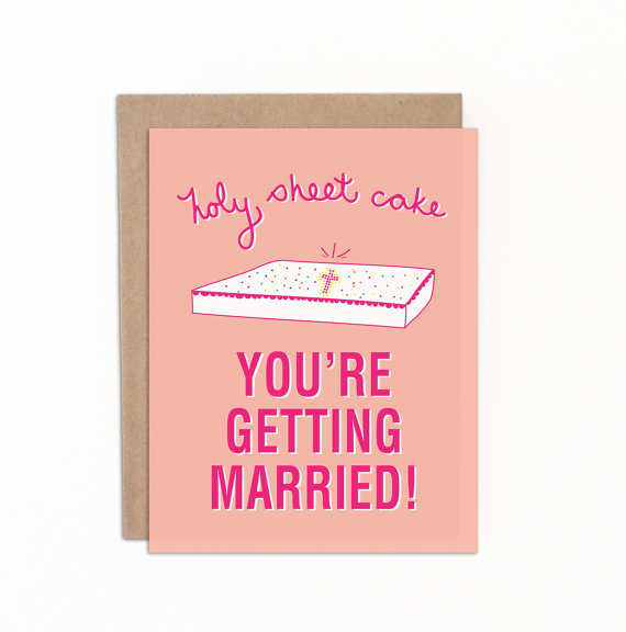 pink funny bridal shower card example