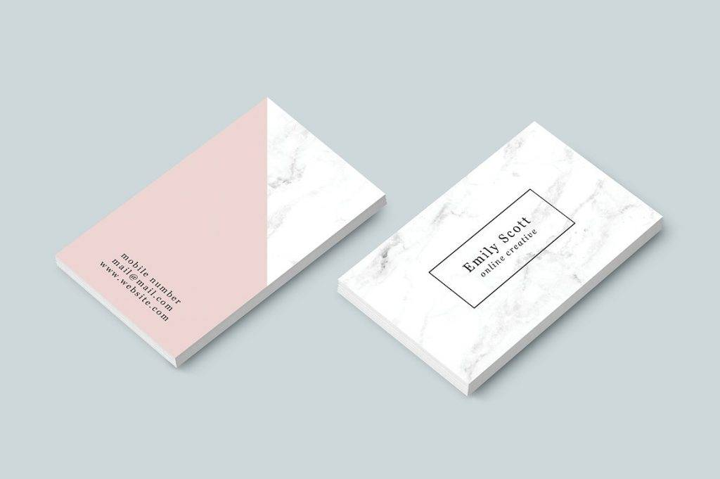 pink marble business card template in psd 1024x681