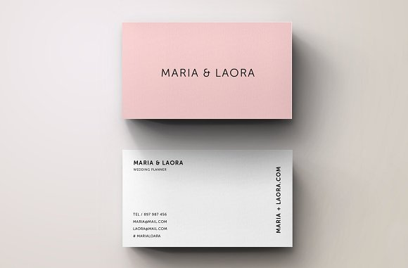 pink studio modern business card example