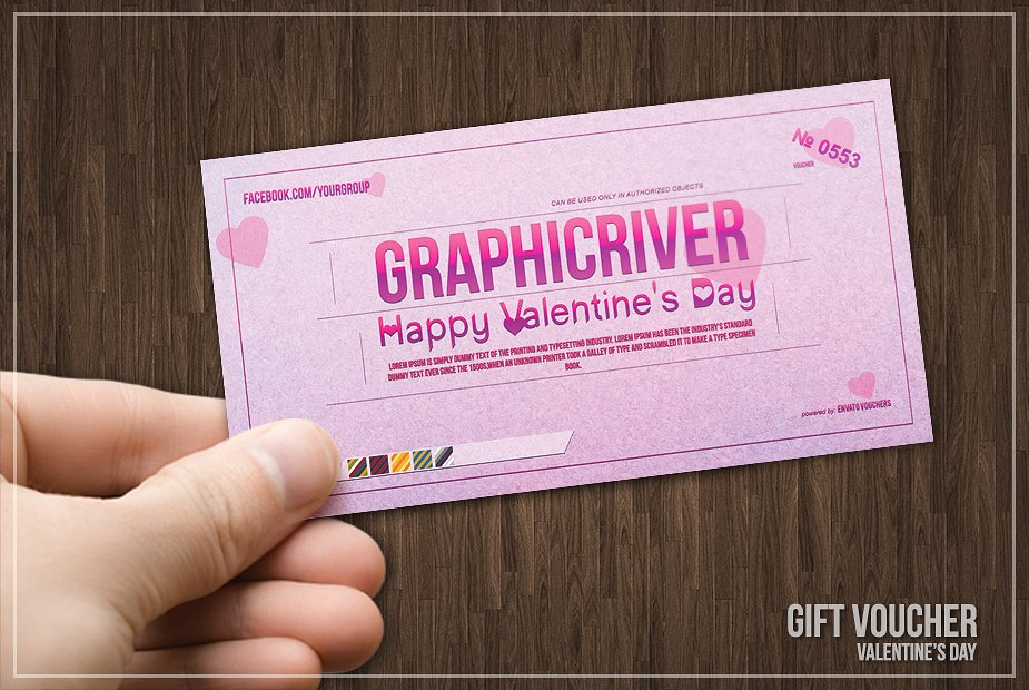 pink valentines prize voucher example