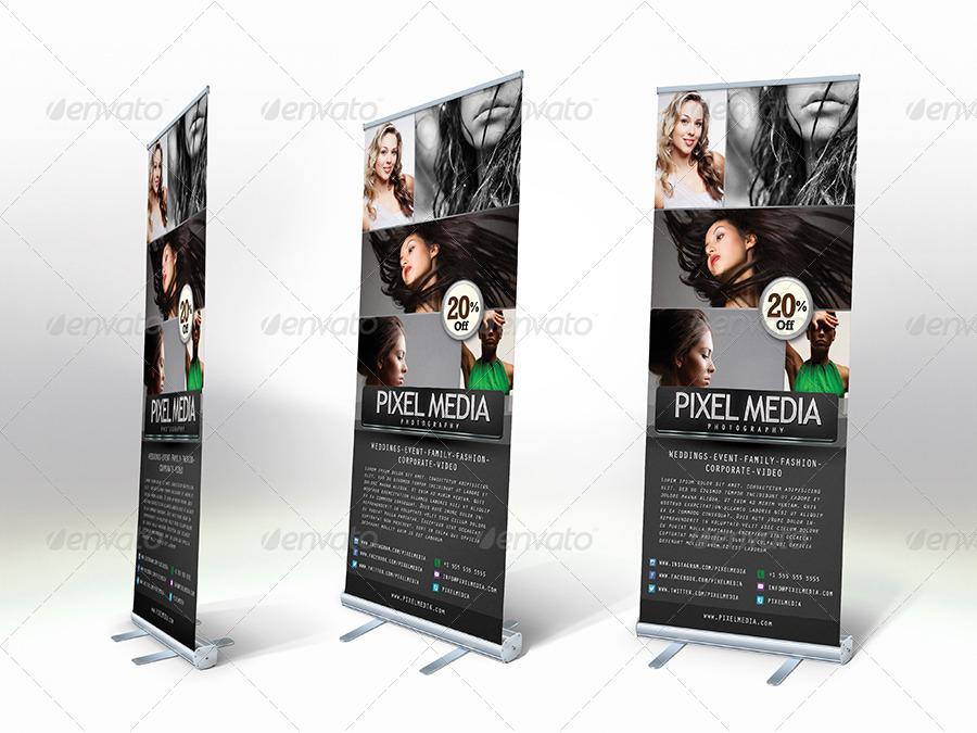 pixel media photography signage example
