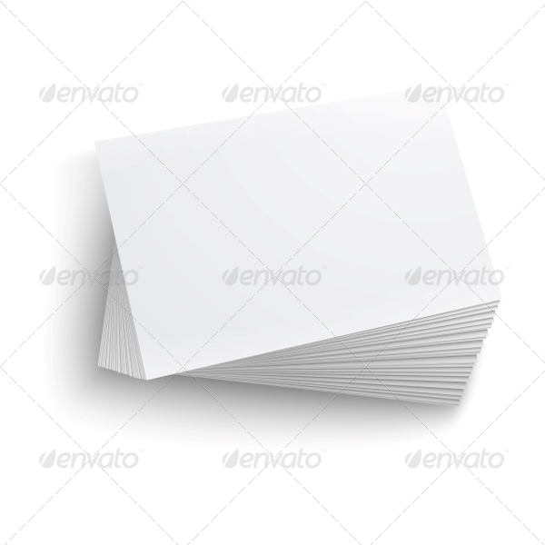 plain blank business card
