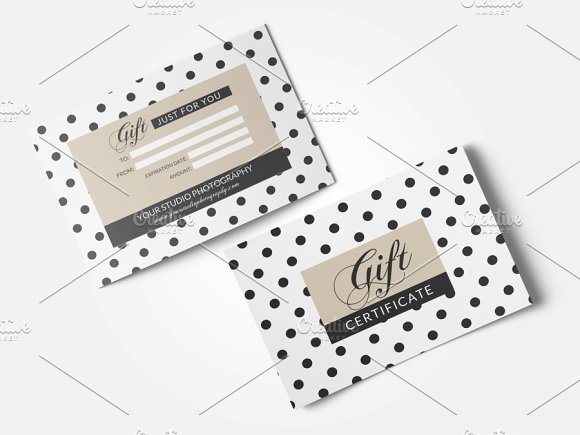 polka dot gift card template example
