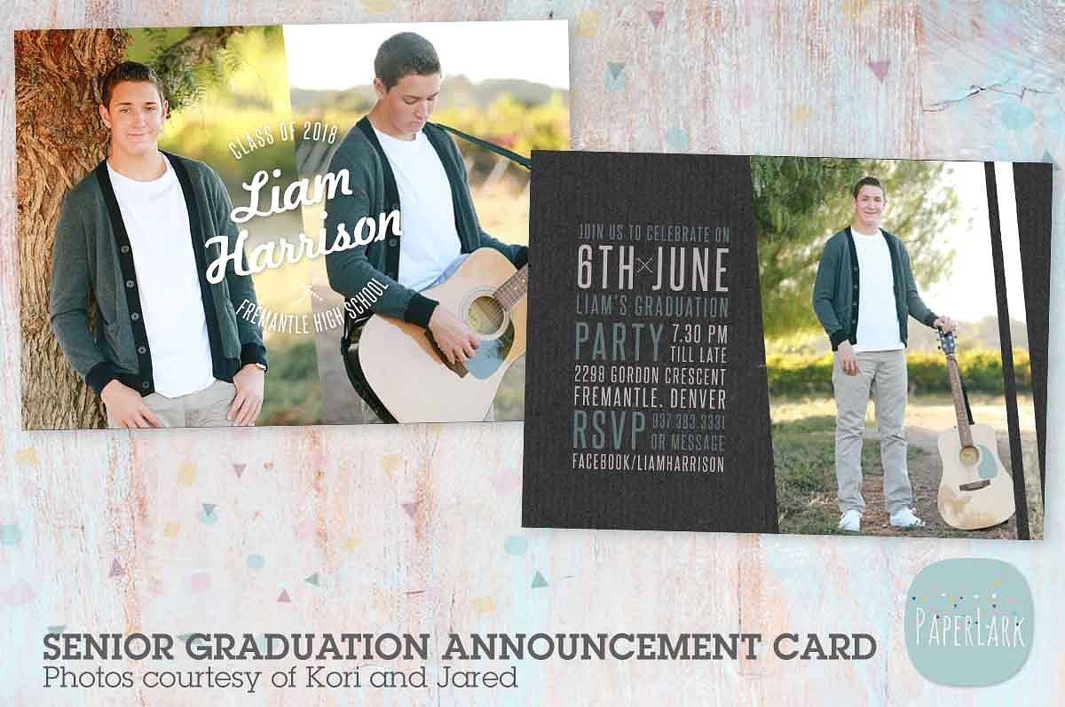 portrait photo graduation card example