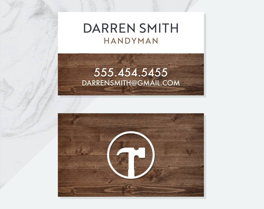 premade handyman business card example