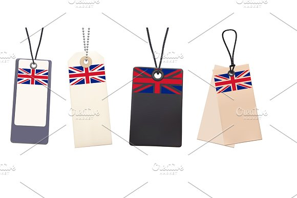 price tag with flag examples